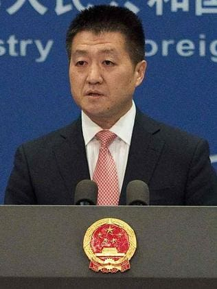 Chinese Foreign Ministry spokesman Lu Kang. Picture: AFP