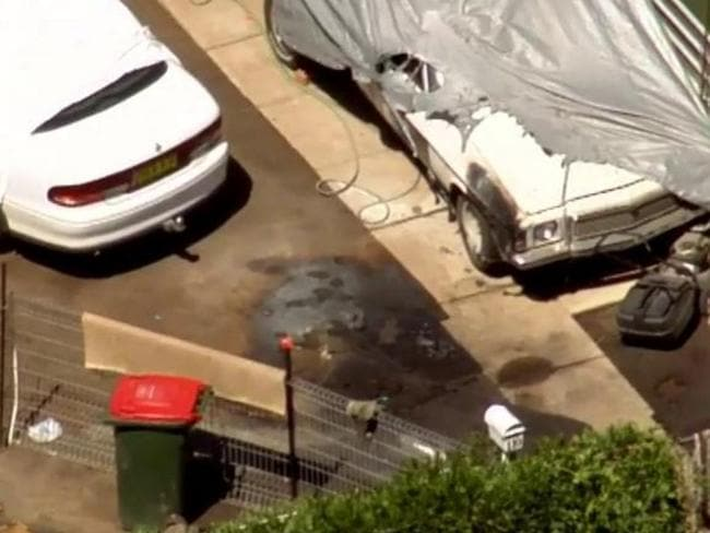 Police were called to the scene at about 11.15 this morning. Picture: Channel 7 / Twitter