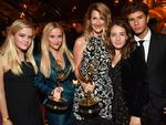 Ava Elizabeth Phillippe, Reese Witherspoon, Laura Dern with her children Jaya Harper and Ellery Walker Harper attend the HBO's Official 2017 Emmy After Party. Picture: Jeff Kravitz/FilmMagic
