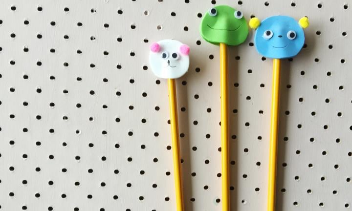 Cool pencil toppers