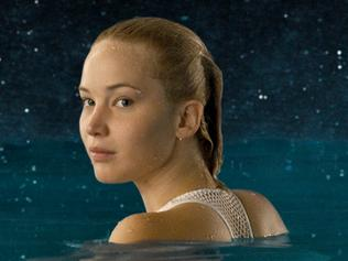 Jennifer Lawrence in a scene from the film Passengers.