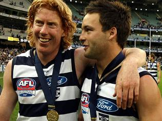 2007 Grand Final. Geelong v Port Adelaide. MCG. Cameron Ling, Jimmy Bartel and Gary Ablett Jr.