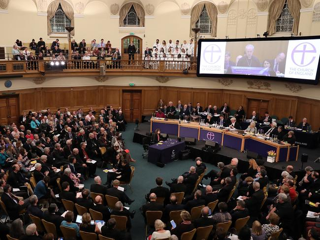 Voting takes place electronically at the General Synod on February 15, 2017 in London, England. Picture: Dan Kitwood/Getty Images.