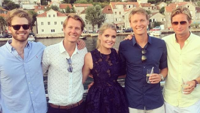 Louis Spencer (far left) and his sister Lady Kitty Spencer (centre). Photo: Instagram
