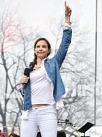 WASHINGTON, DC - JANUARY 21: Ashley Judd attends the Women's March on Washington on January 21, 2017 in Washington, DC. (Photo by Theo Wargo/Getty Images)