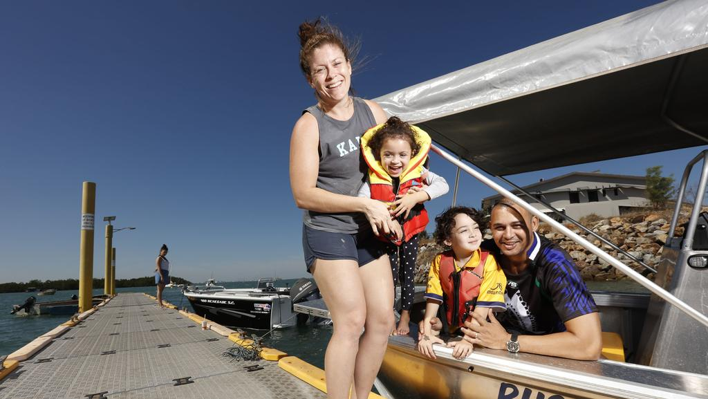Melanie, Ruby, Will and Thomas Mayor are stoked about more money being spent on fishing. PICTURE: Glenn Campbell