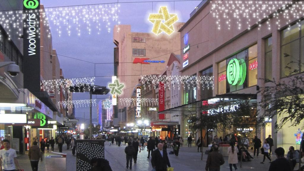 How 500 000 is set to light up adelaide s rundle mall for Home decorations adelaide