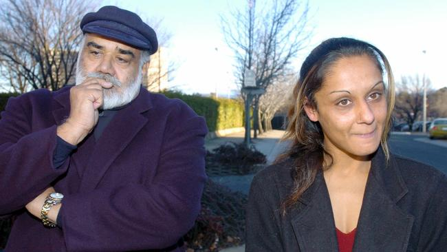 Anu Singh pictured with her father in 2004.