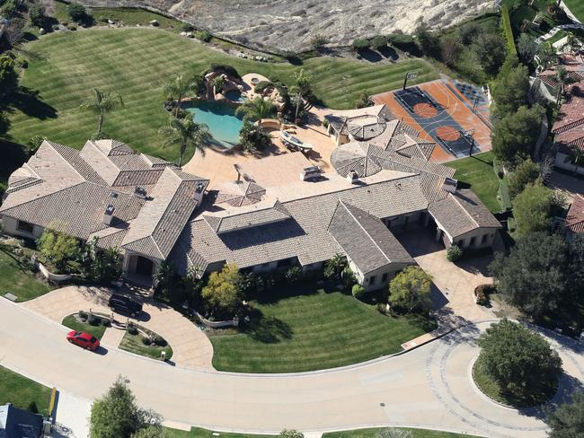 A bird eye's view of the new sprawling mansion reportedly rented by Carey and Packer. Picture: X17.