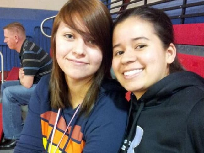 Mary Chapa, right, survived but teen girlfriend Mollie Olgin died after being shot. Picture: Facebook