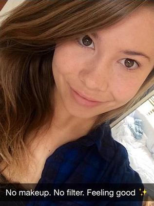Bindi Irwin posted a make-up free photo of herself online. Picture: Instagram