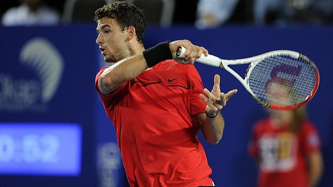 Bulgaria's Grigor Dimitrov playing in the Hopman Cup earlier this year. Picture: Danie...