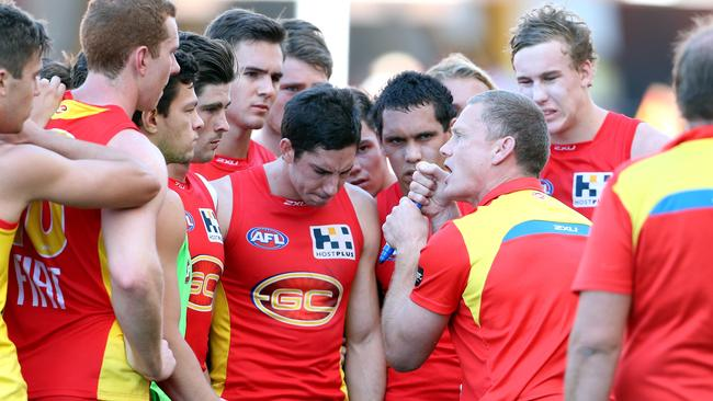 Guy McKenna's team struggled against the Eagles, and Andrew Hamilton says the coach is reverting to old excuses to defend his side. Picture: Richard Gosling