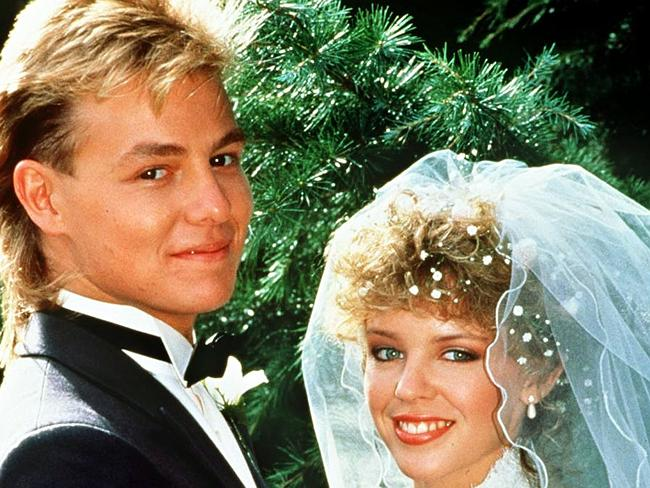 Scott and Charlene's much-anticipated wedding episode on Neighbours, July, 1987.