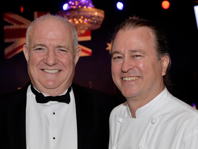 Star-studded ... Rick Stein and Australian chef Neil Perry. Picture: David Dyson