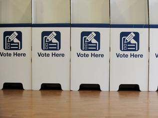 Generic images of ballot box / voting booth / election / NSW.