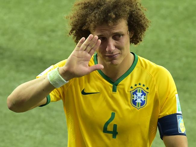 Brazil's stand-in captain, David Luiz, was inconsolable after the defeat.