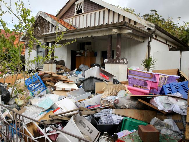 The home of Mary Elena, and Liana Bobolas was ready for another clean-out only months after the previous clean up. Picture: News Corp