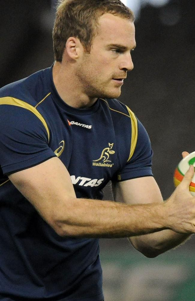 Pat McCabe training with the Wallabies.