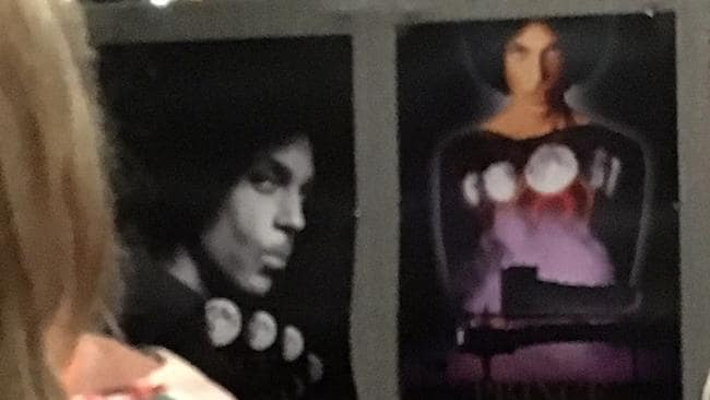 Poster anyone: fans snapped up merchandise from the brand new Prince tour.