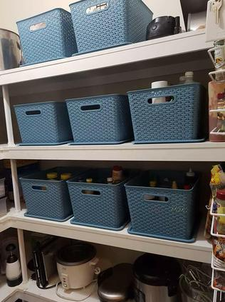 Belinda says it wasn't hard to achieve her 'after' picture of her pantry. Picture: Belinda Hampson