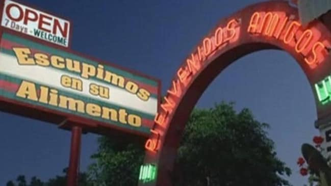This restaurant looks harmless, until you realise what it says in Spanish.