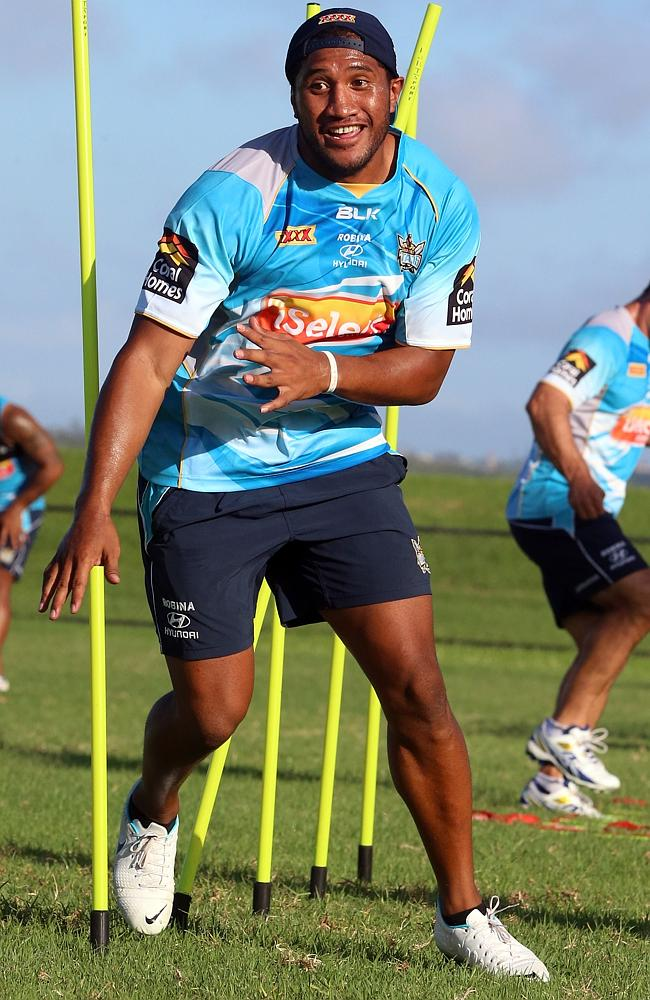 Kalifa Faifai Loa is on the verge of getting his first appearance in Titans jersey. Photo by Richard Gosling