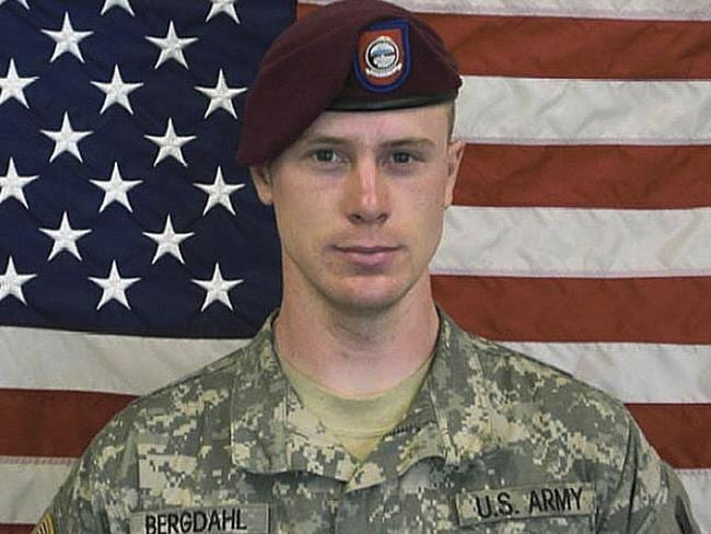 Sergeant Bowe Bergdahl. Bergdahl, who went missing from his outpost in Afghanistan in June 2009 and was released by the Taliban on May 31. Picture: AP Photo/US Army