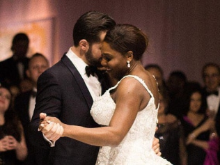 Serena Williams & Alexis Ohanian wedding. MUST CREDIT VOGUE INSTAGRAM