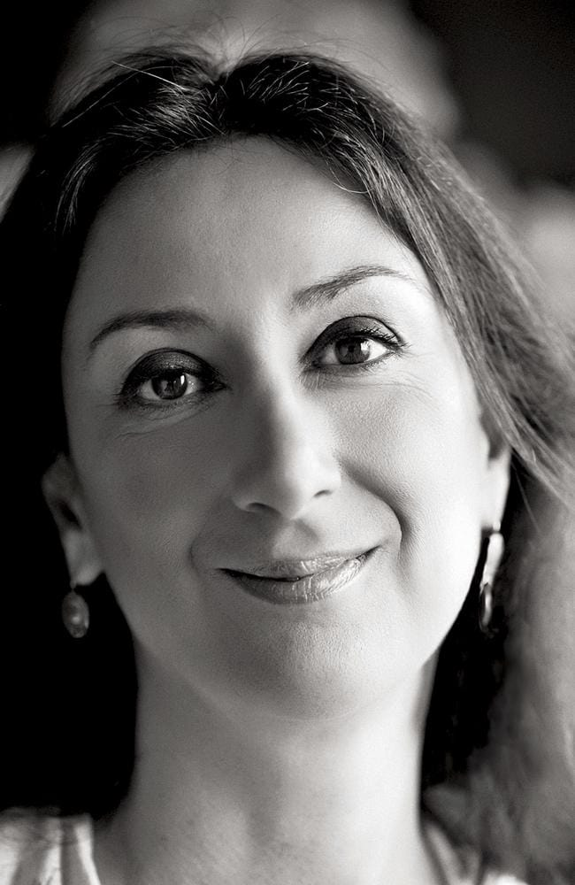 Daphne Caruana Galizia was killed when a bomb destroyed her car as she was driving near her home. Picture: The Malta Independent via AP