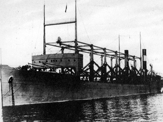 The USS Cyclops ship, the first reported ship carrying a radio lost in the Bermuda Triangle in 1918. Picture: News Corp Australia.