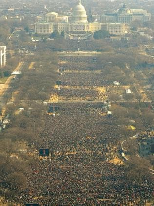 The historic National Mall during Mr Obama's inauguration. Picture: Supplied