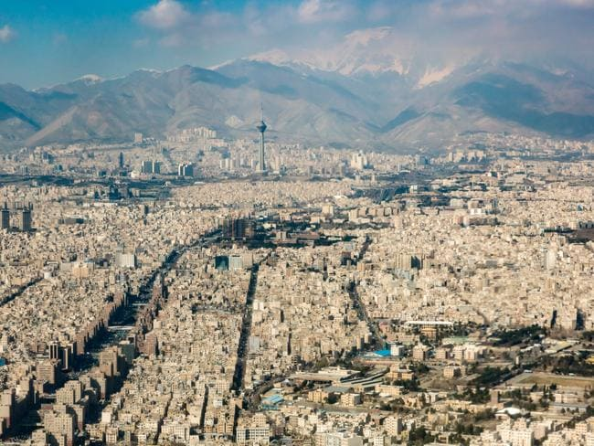 Tehran from above.