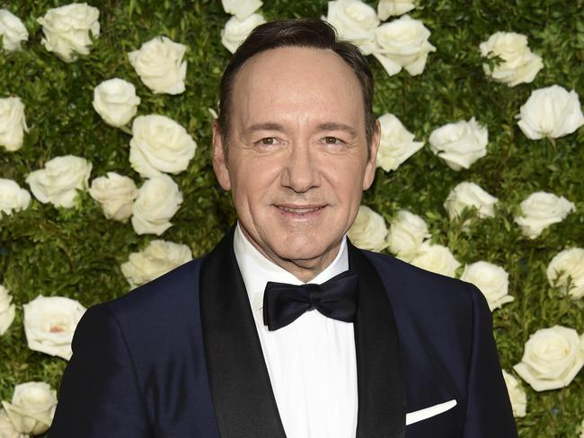 Kevin Spacey arrives at the 71st annual Tony Awards at Radio City Music Hall in New York. Picture: AP/Evan Agostini