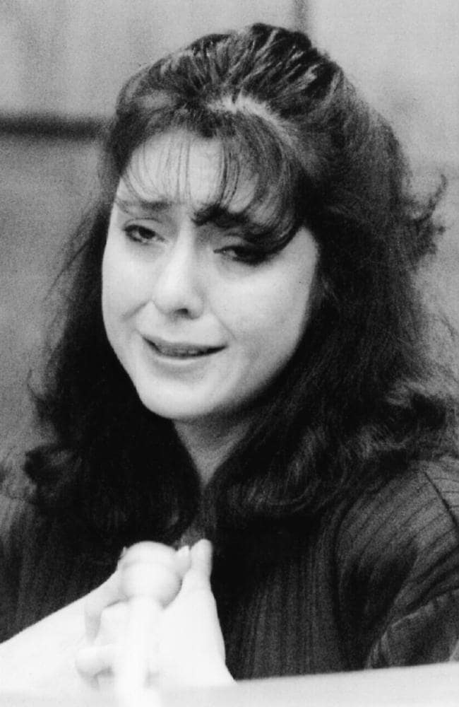Lorena Bobbitt, during the court case.