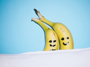 Happy banana, happy life. That's how it goes, right? Photo: Stocksy