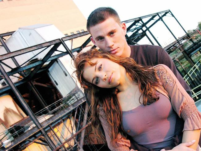 Wife knows ... Scene from 2006 film Step Up with Jenna Dewan and her husband Channing Tatum.