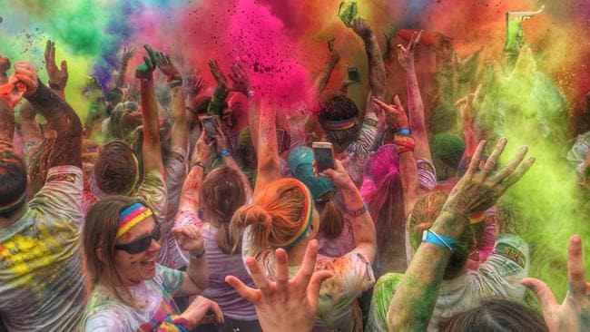 Living Colour ... The Colour Run shot on the iPhone 6, in a Lifeproof tough case, on July 26, 2015. Picture: Rod Chester