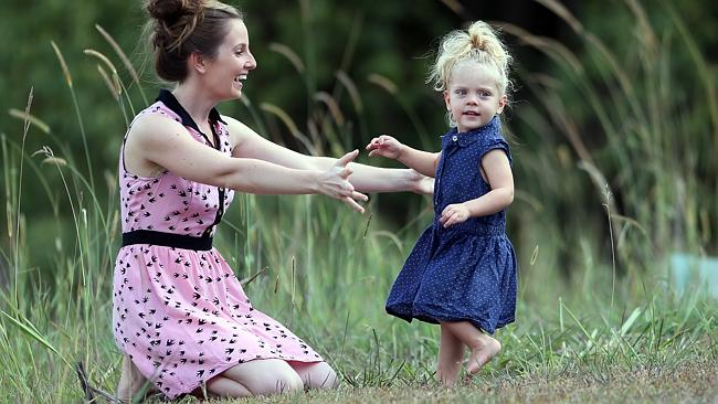 Tamara Allcorn, pictured with daughter Brindy, 2, had a double mascectomy like Angelina Jolie. Pic: Glenn Barnes