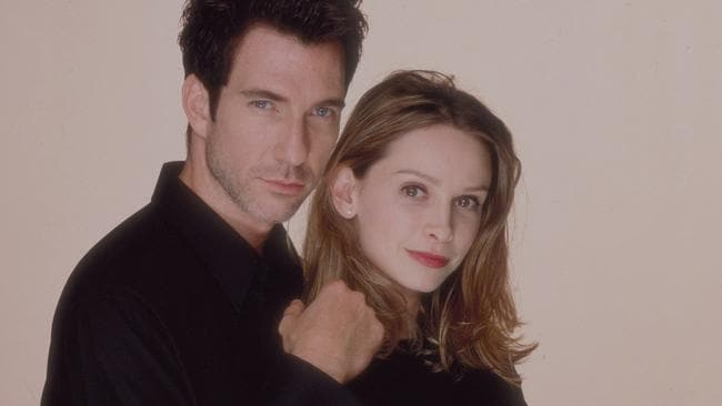 Calista Flockhart from Ally McBeal with Dylan McDermott from The Practice.