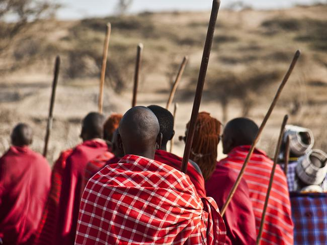 Maasai men ready to prove their manhood. Picture: Puliarf.