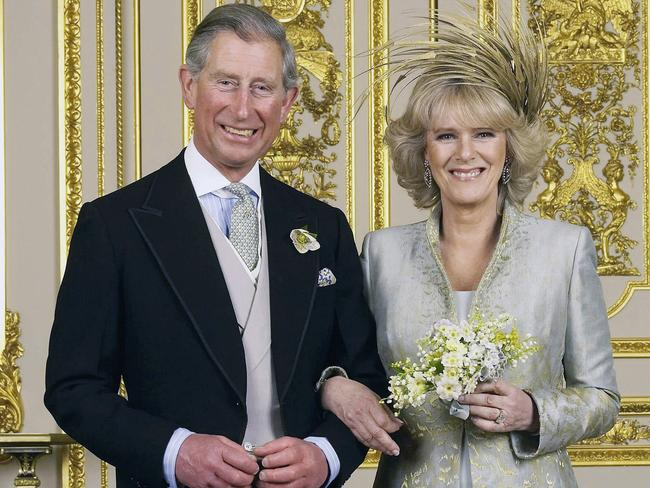The Prince of Wales and his new bride Camilla, Duchess of Cornwall after their wedding ceremony, in April, 2005. Picture: Hugo Burnand/Pool/Getty Images