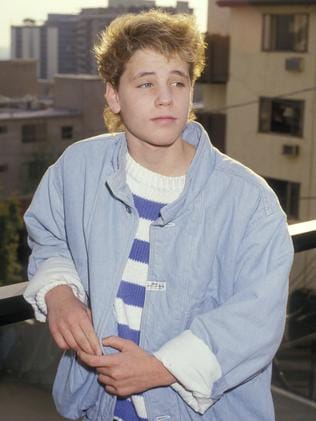Corey Haim in 1987 poses for pictures outside Le Mondrian Hotel in West Hollywood. Picture: Ron Galella