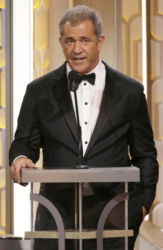 Presenter Mel Gibson speaks onstage during the 73rd Annual Golden Globe Awards at The Beverly Hilton Hotel on January 10, 2016 in Beverly Hills, California. (Photo by Paul Drinkwater/NBCUniversal via Getty Images)