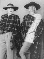 Models wear Harry Watt and George Gross designed suits in the mid-1980s