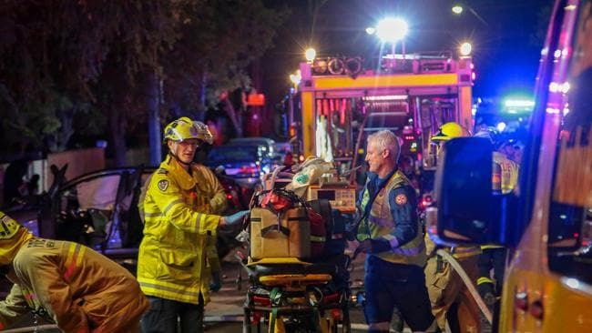 Four people were seriously injured. Picture: Damian Hofman