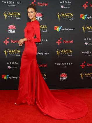 Erin Holland arrives at the AACTAs.