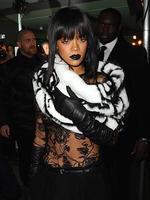 PARIS FASHION WEEK 2014: Singer Rihanna attends the Jean Paul Gaultier show. Picture: Getty