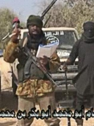 A screen grab from a video of Nigerian Islamist extremist group Boko Haram. Picture: AFP