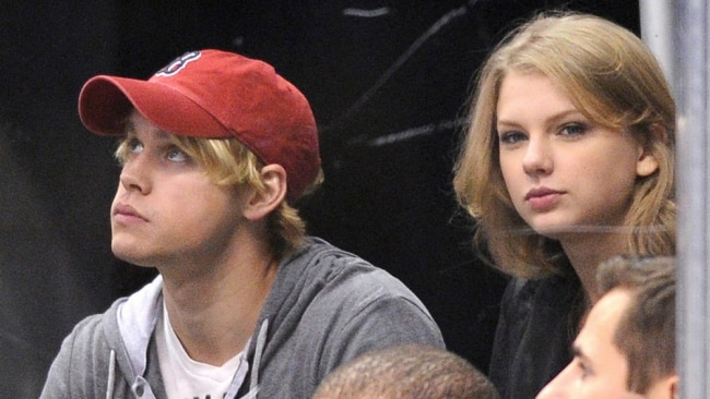 Chord Overstreet and Taylor Swift in 2011. Photo: AFP/File